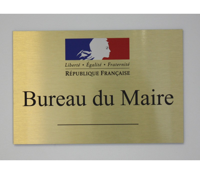 plaque de porte mairie signal tique design mairie ma plaque pro. Black Bedroom Furniture Sets. Home Design Ideas